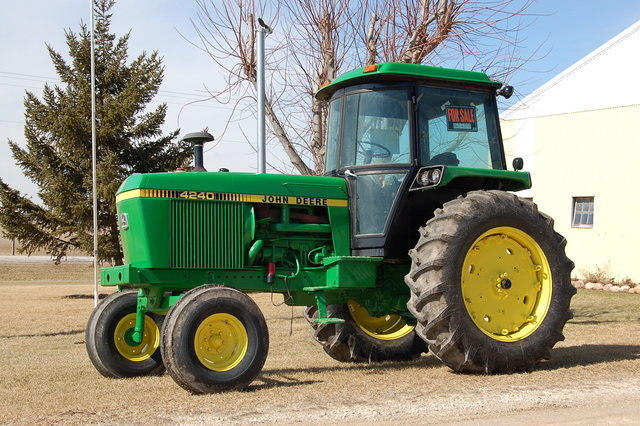 My dad bought this 4240 tractor new in March of 1979.My grandpa asked him what he needed such a big tractor for.We used it here